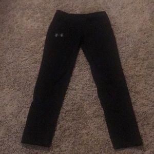 Girls under armor black athletic leggings